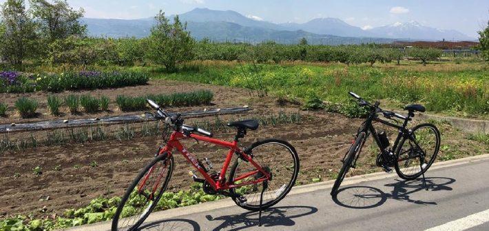 須坂へサイクリング