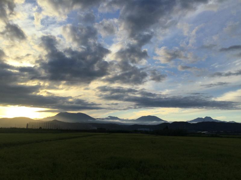 夕方の北信五岳