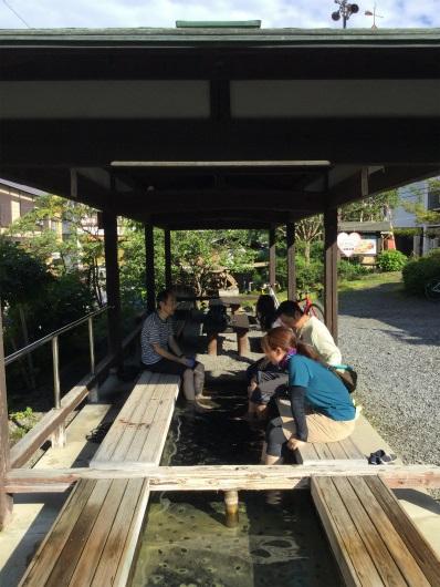 山田温泉で足湯