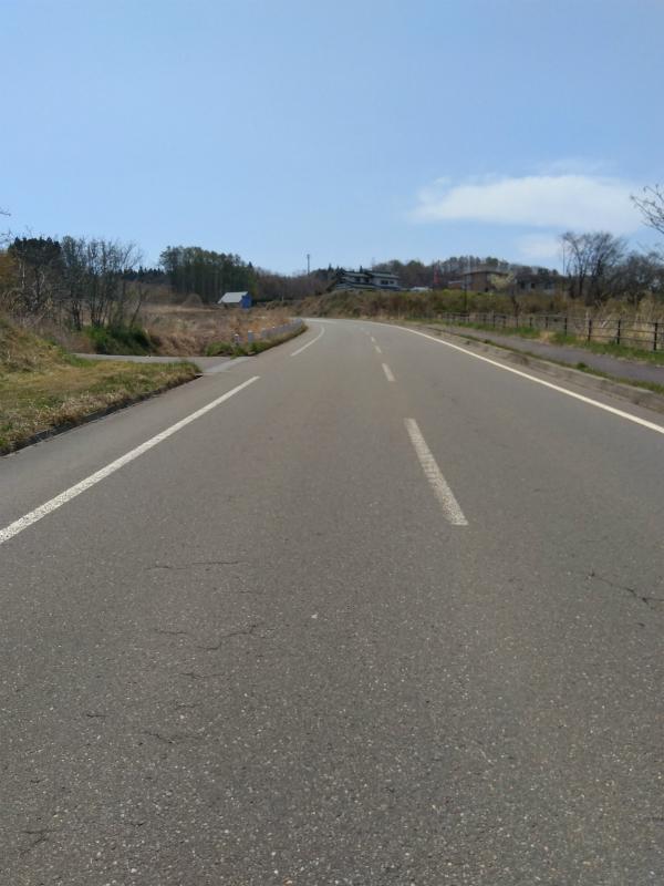 飯綱町牟礼の道路
