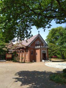 小布施 新生病院教会 桜が咲きます