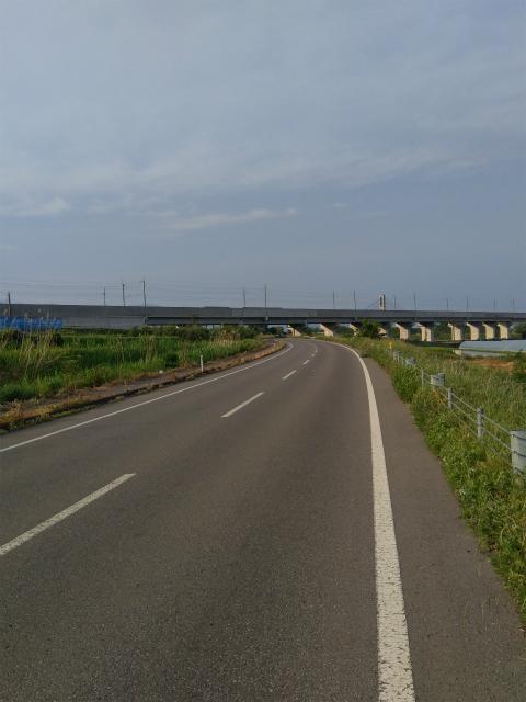 中野市北陸新幹線線路