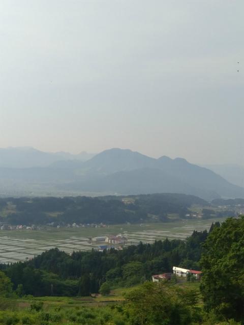 信濃平スキー場から田んぼの景色