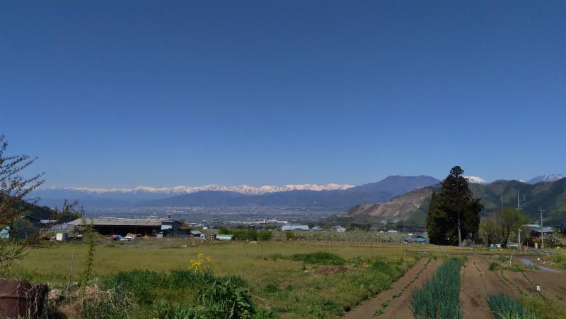 高山村二つ石絶景