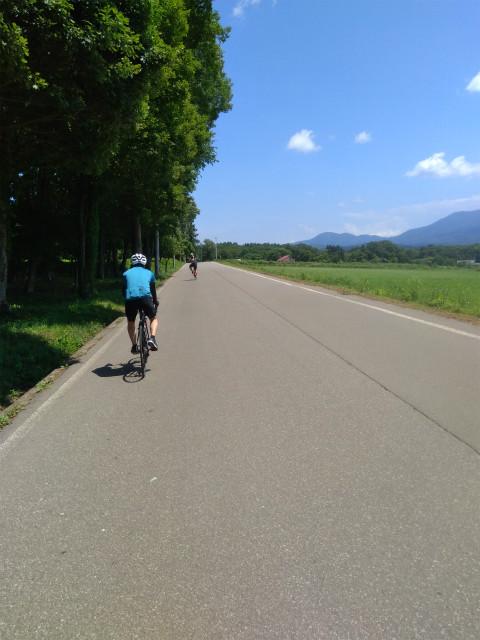 信濃町でロードバイク