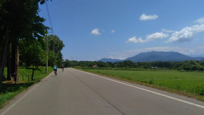 信濃町景色の良い道
