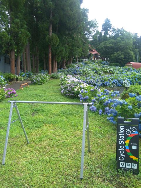高源寺のサイクルスタンド