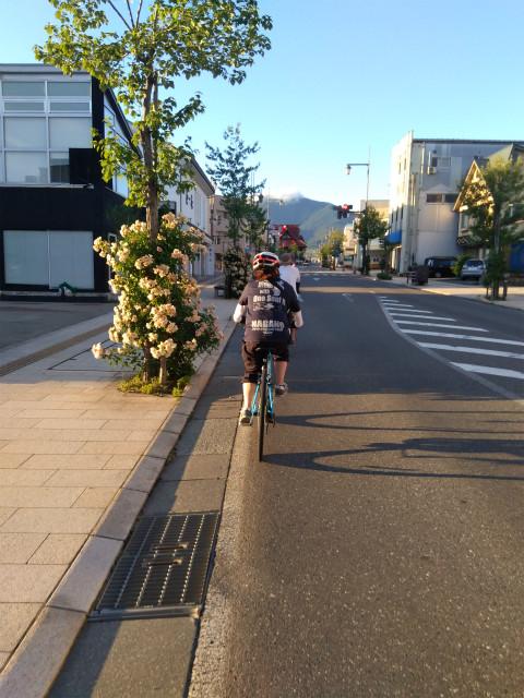 中野市をサイクリング