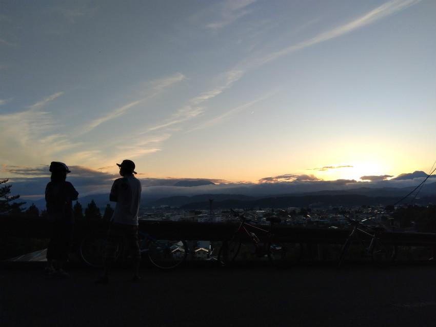 中野市東山夕焼け