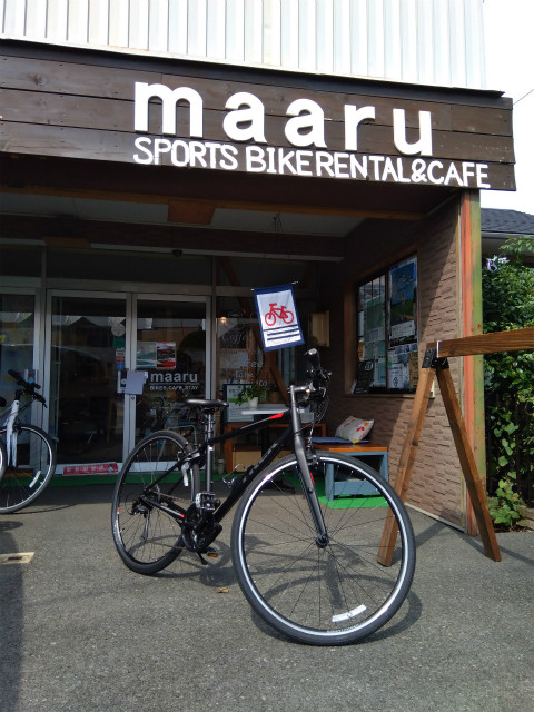 小布施maaru店舗とクロスバイク