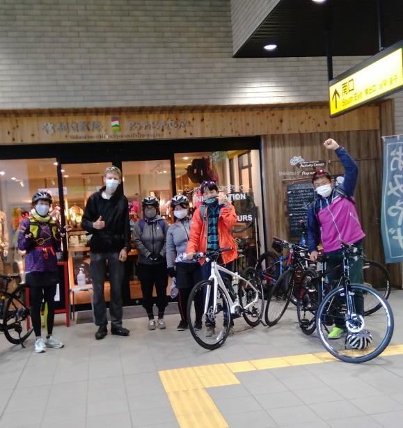 maaruなべくらサイクリングツアー飯山駅出発