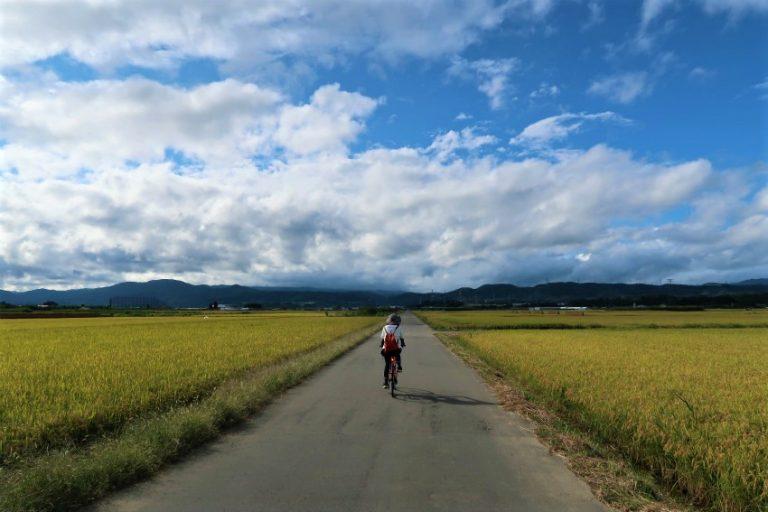 小布施延徳田んぼでサイクリング