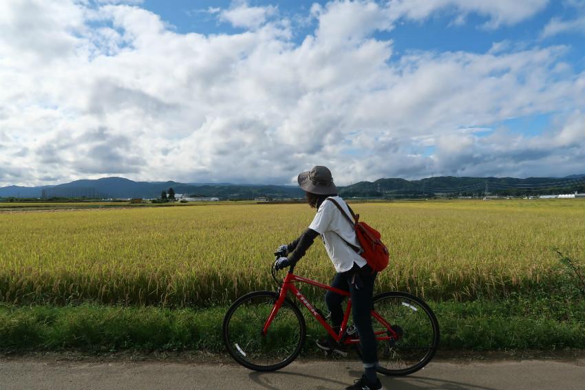 小布施秋のサイクリング
