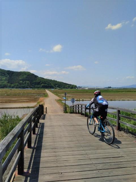 場所は中野市だけど小布施がよく見える「木の橋(かっぱ橋)」