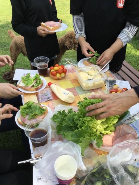 小布施の農家さんちで朝食ライド 食卓