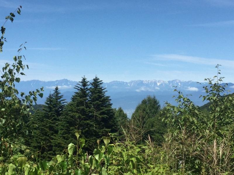 山田牧場から北アルプスの眺め