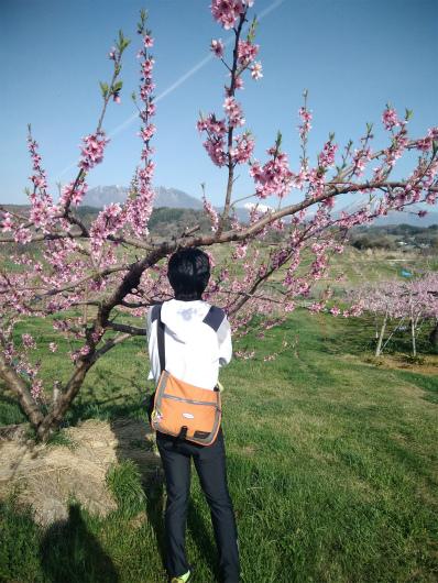 丹霞郷ライド景色を眺める