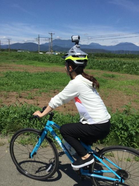ヘルメットにカメラ