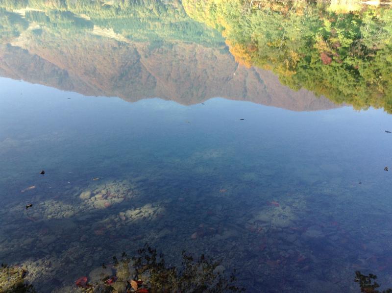青木湖鏡面