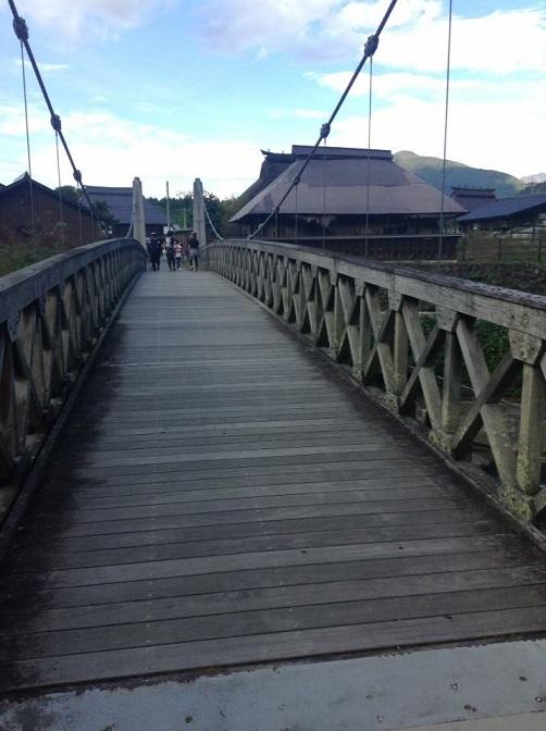 白馬大出の吊り橋