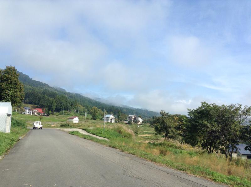 飯山巨木を巡るサイクリング 晴れてきた