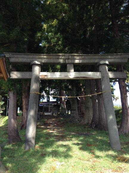 飯山巨木を巡るサイクリング 山田神社