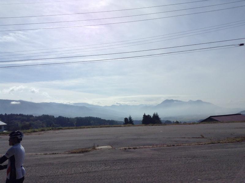 飯山巨木を巡るサイクリング 山田神社前からの景色
