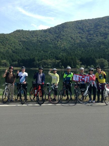 飯山巨木を巡るサイクリング 集合写真