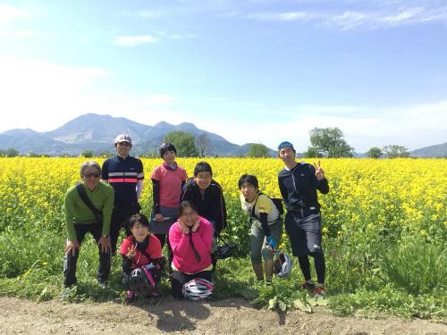 巨大パフェ菜の花サイクリング2018