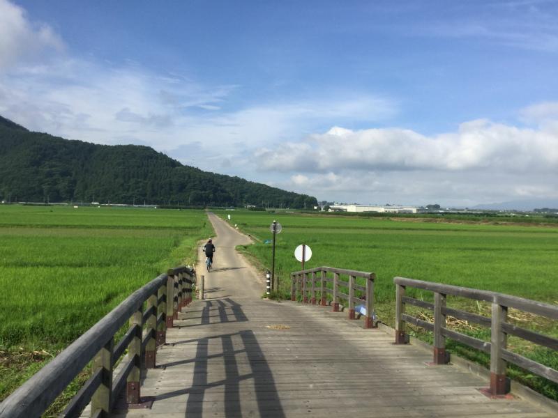 延徳たんぼサイクリング木製橋
