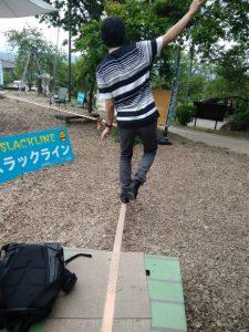 浄光寺のスラックライン