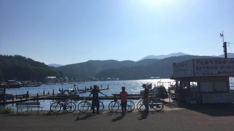 野尻湖サイクリング 野尻湖畔
