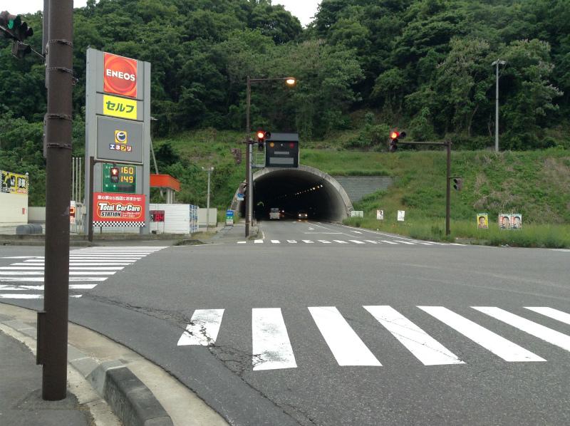立ヶ花のトンネル