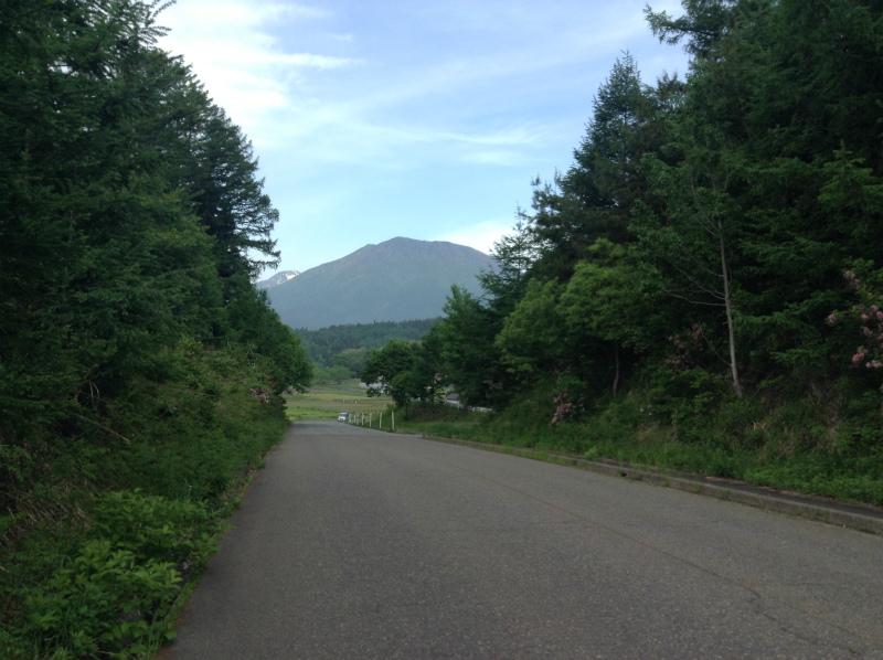 北信五岳道路から黒姫山