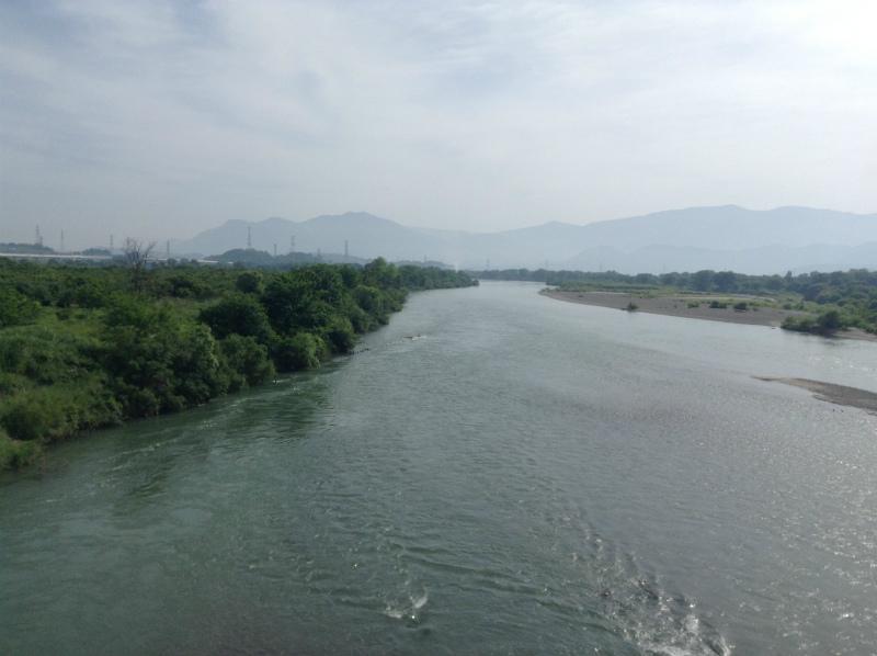 小布施橋から千曲川