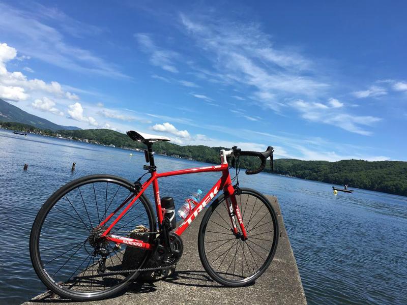 野尻湖サイクリングtrekロードバイク