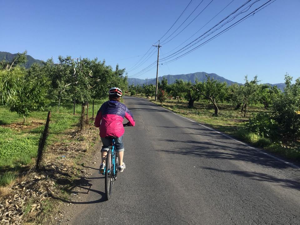 須坂へサイクリング 日滝の農道