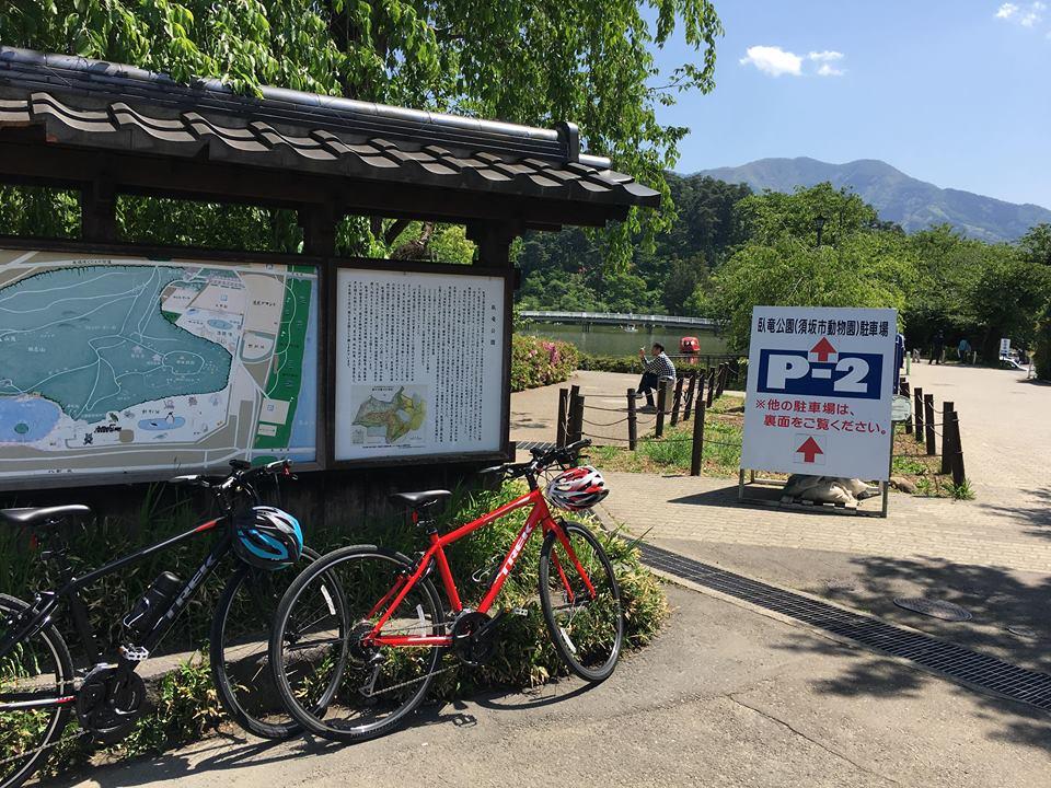 須坂市へサイクリング臥竜公園入口