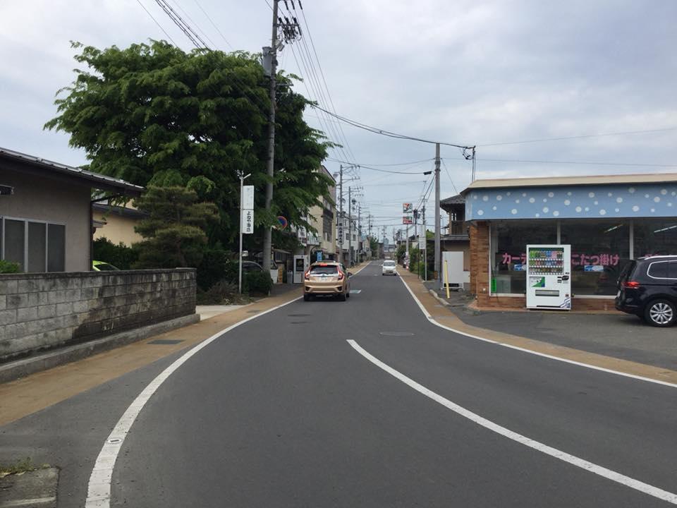 須坂へサイクリング 高橋信号渡る