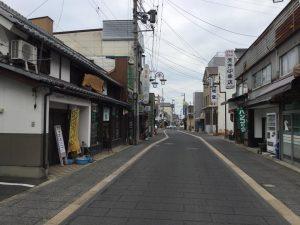 須坂へサイクリング 銀座通り