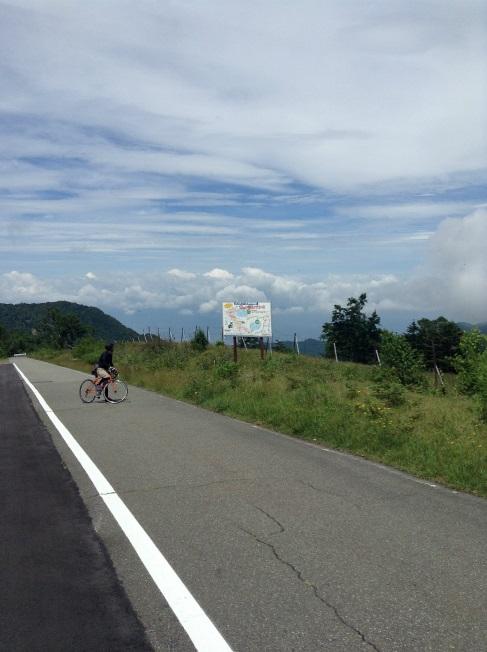 山田牧場から笠岳 タコチコースはこの辺から