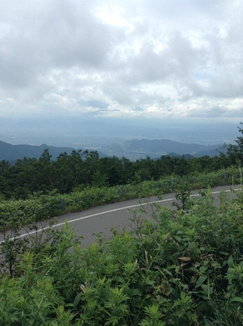 高山村から長野方面景色