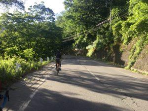 ロードバイクで高山村山田温泉サイクリング