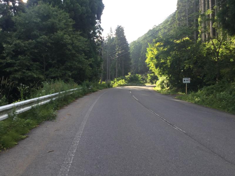 高山村自転車で山田温泉まで 子安上杉林