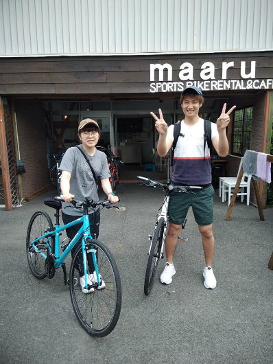 湯田中自転車デート