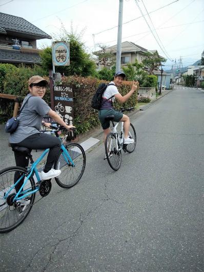 湯田中自転車デートmaaru出発