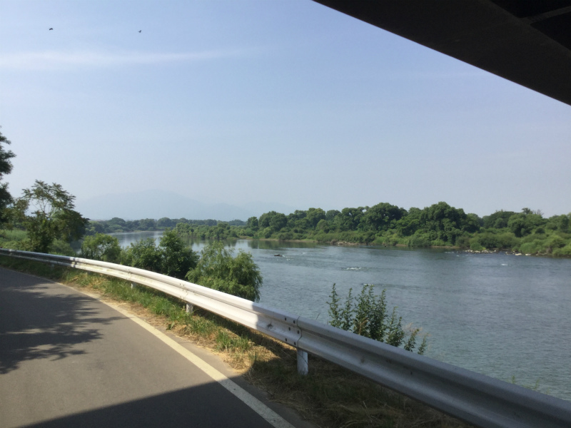 立ヶ花から見る千曲川